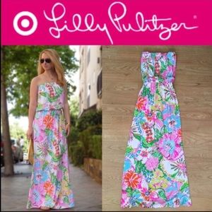 Lilly Pulitzer for Target Maxi Strapless Dress S/P